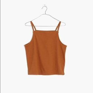 Madewell texture and thread apron tank